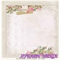 Дизайнерски картон 30.5x30.5cm Houses Of Roses 05