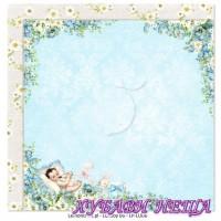 Дизайнерски картон лист 30.5x30.5cm Lullaby 06 двустр.