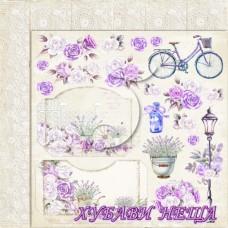Дизайнерски картон лист 30.5x30.5cm My Sweet Provence 03 двустр.
