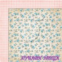 Дизайнерски картон лист 30.5x30.5cm Sense and sensibility 07 двустр.