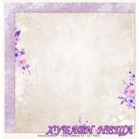 Дизайнерски картон 30.5x30.5cm Violet Silence 02