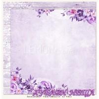 Дизайнерски картон 30.5x30.5cm Violet Silence 03
