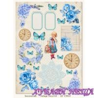 Дизайнерски картон A4 (21x29.7cm) Vintage Time 007