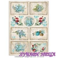 Дизайнерски картон A4 (21x29.7cm) Vintage Time 019