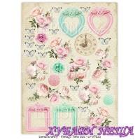 Дизайнерски картон A4 (21x29.7cm) Vintage Time 025