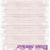 Дизайнерски картон 30.5x30.5cm 180гр/м2 - Ice Feathers