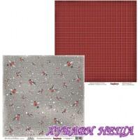 Дизайнерски картон 30.5x30.5cm Bullfinches двустранен