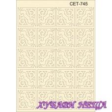 Сет745 К-т елементи от бирен картон- Ъгли
