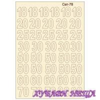 Сет078 К-кт елементи от бирен картон- Цифри