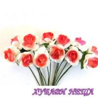 Букет розички- Червен / Бял