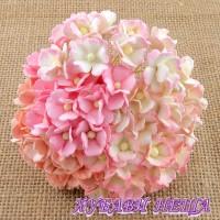 Цветя от Мълбери хартия Цветчета 15мм Микс Розово и Бяло 10бр