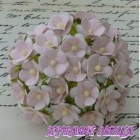Цветя от Мълбери хартия Цветчета 15мм Бебешко Розово 10бр