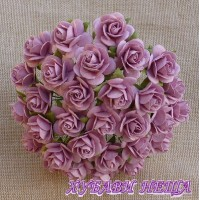 Цветя от Мълбери хартия Рози 10мм Пепел от рози- 10бр