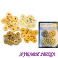 Метални капси алуминий 41587-9 4x10 бр. Цвят Жълт