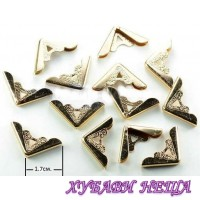 Метални ъгли за албуми, тефтери и др.- 068 златисти