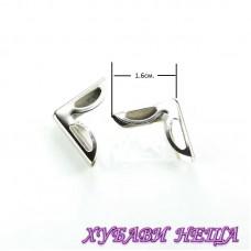 Метални ъгли за албуми, тефтери и др.- 070 сребристи
