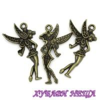 Метален орнамент ''Фея'' Античен бронз 1бр.