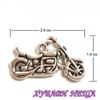 Метален орнамент ''Мотоциклет'' Антично Сребро 3бр.