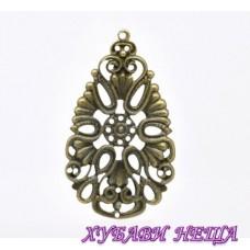 Метален орнамент Античен бронз 1бр.
