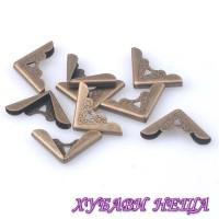 Метални ъгли за албуми, тефтери и др. 081 Античен бронз