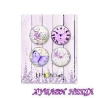 Комплект от 4 самозалепващи Бутони/Значки- My Sweet Provence