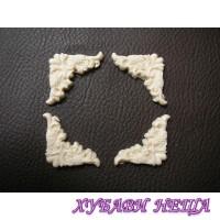 Пластични елементи Ъгълчета 89- 4 x 2,8см К-кт 4бр