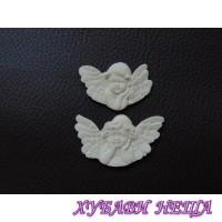 Пластични елементи Ангели- 4.5х2.7см и 4х2.5см 2бр