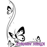Папка за релеф- 1218-107 Butterflies In Corner