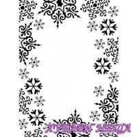 Папка за релеф- 1219-135 Snowflake Trim