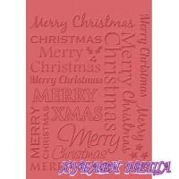 Папка за релеф- Merry Christmas Craft Concepts 10x15cm