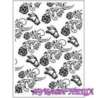 Папка за релеф Dixi Craft A6- Цветя и пеперуди