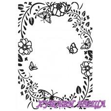 Папка за релеф 10x15см - Flower/butterfly