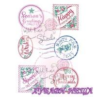 Печат CL353- 6бр Коледни Етикети