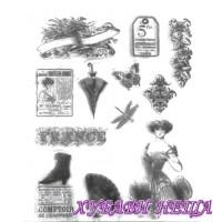 Печат- Викторианска винтидж лейди