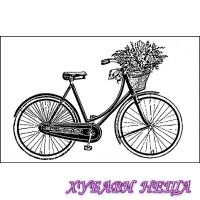 HD гумен печат 7x11см. Bycicle- WTKCC03