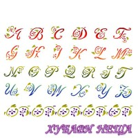 Шаблон за релеф 30 x 44 см Floral alphabet