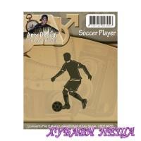Шаблон за изрязване и релеф- ADD10039 Soccer player
