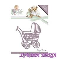 Шаблон за изрязване и релеф- ADD10054 Детскa количкa