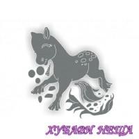 Шаблон за изрязване и релеф- BG039 Пони