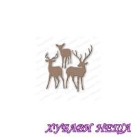 Шаблон за изрязване и релеф- Deer Trio