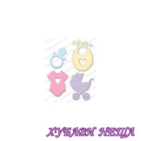 Шаблон за изрязване и релеф- DIE428-R Baby Set