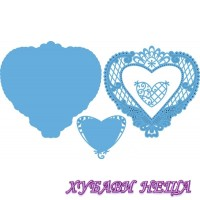 Шаблон за изрязване и релеф Anja's filigraan heart
