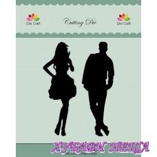 Шаблон за изрязване и релеф Dixi Craft- Boy & Girl 064