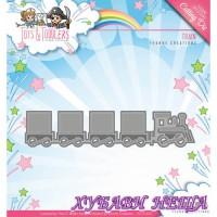 Шаблон за изрязване и релеф- Влак