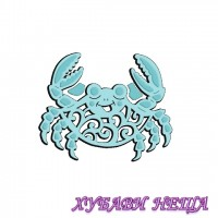 Шаблон за изрязване и релеф- Cute Crab