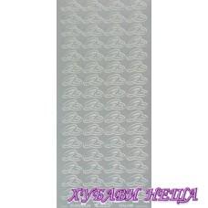 Самозалепващи стикери- Сребристи халки 108
