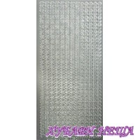 Самозалепващи стикери- Сребристи сърца 1003