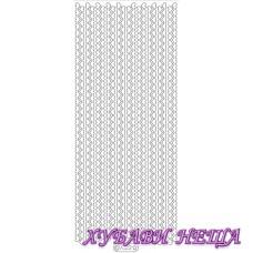 Самозалепващи стикери- Сребристи сърца - глитер 7022