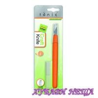 KUSHGRIP ART KNIFE - Прецизен скалпел с гумирана дръжка + 6 ножчета