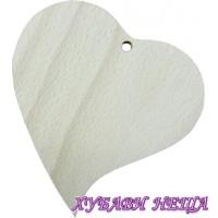 Сърце извито от MDF 6мм- 12x11см